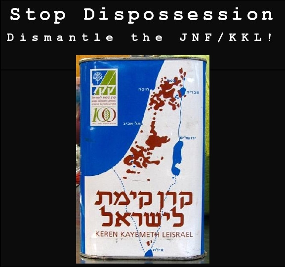 No to Dispossession! Dismantle the JNF